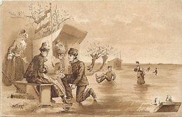 Ref 514- Illustrateurs - Illustrateur - Sports D Hiver - Patinage -patins A Glace -publicité Cacao Van Houten -hollande- - Wintersport