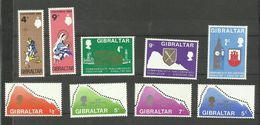 Gibraltar N°215 à 223 Neufs** Cote 4.55 Euros - Gibraltar