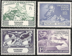 Falkland Isl,  Scott 2017 # 103-106,  Issued 1949,  Set Of 4,  MNH,  Cat $ 14.90,  49 UPU - Islas Malvinas
