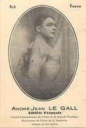Ref 497- Image 12cms X 8cms -andré Jean Le Gall -athlete Francais - Recordman De Force De La Machoire - Bon Etat - - Athletics
