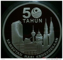 Malaysia 2007 1 Ringgit Indepedence 50th Years 2007 Commemorative Nordic Gold BU  Coin - Malaysie