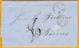 1866 - LAC De Hambourg, Allemagne Vers Reims, France -  Ambulant - Champagne Roederer - Cad Arrivée - Hambourg