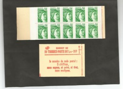 CARNET N° 1973 C1a  Numéroté  Cote 45,00 - Usage Courant
