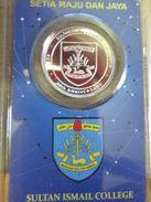 Malaysia Coin  Silver 999 Kelantan Sultan Ismail College School 80 Years 1936 2016 Nordic Gold BU - Malaysia