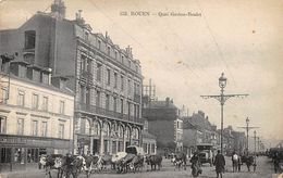CPA - Rouen - Quai Gaston-Boulet - Belle Animee - Vaches - Rouen