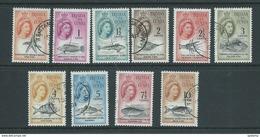 Tristan Da Cunha 1961 Fish & Marine Life Definitives Short Set Of 10 -> 10c FU - Tristan Da Cunha