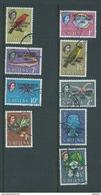 Tristan Da Cunha 1963 Resettlement Overprint On St Helena Definitives Short Set Of 9 To 1/- Gum Wood FU - Tristan Da Cunha