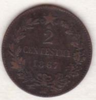 ITALIE. 2 CENTESIMI 1867 M (MILANO) .VITTORIO EMANUELE II - 1861-1946 : Regno