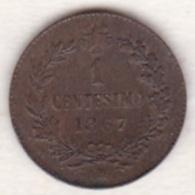 ITALIE. 1 CENTESIMO 1867 M (MILANO) .VITTORIO EMANUELE II - 1861-1946 : Regno