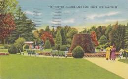 New Hampshire Salem The Fountain Canobie Lake Park 1942 - Salem