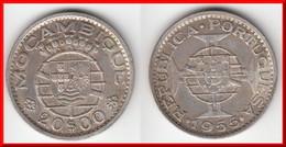 **** MOZAMBIQUE - PORTUGAL - 20 ESCUDOS 1955 - ARGENT - SILVER **** EN ACHAT IMMEDIAT !!! - Mozambique