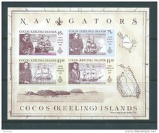 Cocos Keeling Island 1990 Navigator & Ship Miniature Sheet MNH - Islas Cocos (Keeling)