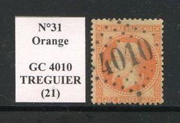 FRANCE- Y&T N°31- GC 4010 (TREGUIER 21) - Marcophilie (Timbres Détachés)