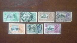 GEORGE V INDIA SILVER JUBILEE SET COMPLETE 1935 FINE USED !! - Indien (...-1947)