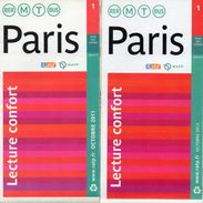 4 PLANS RATP PARIS Metro Bus Rer T  ANNEES *2011 *2013 *2014 *2016 - Europe