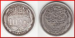 **** EGYPTE - EGYPT - 10 PIASTRES 1916 - ARGENT - SILVER **** EN ACHAT IMMEDIAT - Egypte