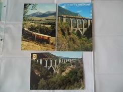 Lot De 3  Cartes  - Villefranche De Conflent - Le Petit Train Jaune - Pont Sejourne - Autres Communes