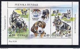 SWEDEN 1989 Swedish Dogs  MNH / **.  Michel 1569-71 - Sweden