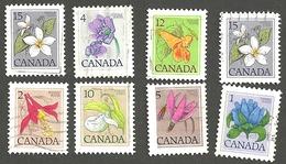 Sc. # 781-87 (Range) Floral Definitives  Low Value  Set Used 1979-83 K437 - 1952-.... Règne D'Elizabeth II