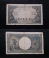 ROMANIA 1000 LIES BANKNOTE 10th SEPTEMBER 1941 CIRCULATED LOOK !! - Rumänien
