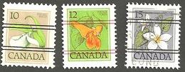 Sc. # 781-87 (Range) Floral Definitives Precancells Low Value  Lot Used 1979-83 K428 - 1952-.... Règne D'Elizabeth II