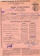 VP10.744 - 1948 - NOISY LE SEC - Electricité De France - Police D'Abonnement - Electricity & Gas