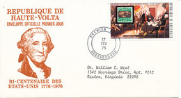 Upper Volta FDC 17-2-1975 U.S. Bi-Centennial 1776 - 1976 With Cachet - Us Independence