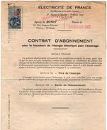 VP10.745 - 1948 - BONDY - NOISY LE SEC - Electricité De France - Contrat D'Abonnement - Electricity & Gas