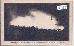 GRECE-SALONIQUE- 1917- LA NUIT DU 18 AOUT- LE FEU DEVORE LA VILLE NORD-OUEST - Grèce