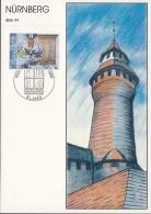 Alandinseln 149 Auf Sonderkarte Zur IBRA '99, Stempel Nürnberg 27.4.-7.5.1999, Motiv: Nürnberg, Kaiserburg - Philatelic Exhibitions