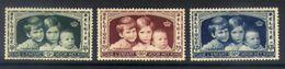 A07 - Belgium - 1935 - OBP 404/406 - MH * - Belgium