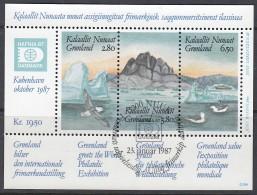 GRÖNLAND  Block 1, Gestempelt, Internationale Briefmarkenausstellung HAFNIA '87, 1987 - Blocs