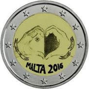 2 Euro Malta 2016 - Bambini E Solidarieta' - Amore - Malta