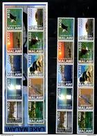 MALAWI, 2014, BIRDS, FISH, LAKE,10 V.+S/S, MNH** - Oiseaux