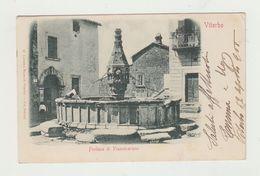 VITERBO - FONTANA DI PIANOSCARANO - VIAGGIATA 1908 - ITALY POSTCARD - Viterbo