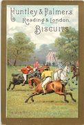 Ref 420- Chromo -biscuit Huntley Et Palmers - Reading Et Londres - Sports -sport - Le  Polo A Cheval - Chromo Bon Etat - - Confiserie & Biscuits