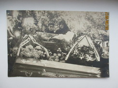 POST MORTEM FUNERAL , DEAD YOUNG BEAUTIFUL GIRL IN COFFIN , O - Funerali