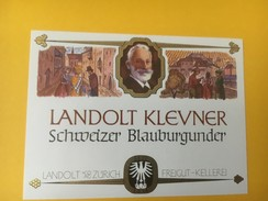 5086 - Landolt Klevner Schweizer Blauburgunder Suisse Petite étiquette - Etiquettes