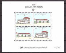 Portugal 1990 Europa: Postal Buildings  Mi Bloc 71, MNH(**) - 1910-... República