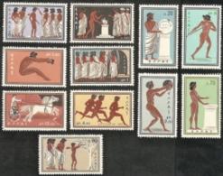 Greece,  Scott 2017 # 677-687,  Issued 1960,  Set Of 11,  MNH,  Cat $ 24.05,  60 Olympics - Greece