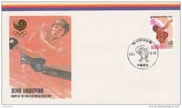 TABLE TENNIS-PING PONG-TISCHTENNIS-TENNIS DE TABLE-TENNIS TAVOLO, Korea Rep., 1987, Special Postmark !! - Tennis Tavolo