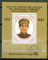 Nordkorea Block 229 O Kim Jong Suk - Corée Du Nord