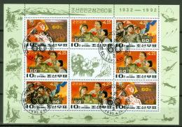 Nordkorea 3286/88 Kleinbogen O Volksarmee - Corée Du Nord