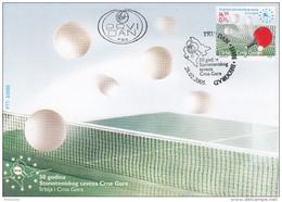 TABLE TENNIS-PING PONG-TISCHTENNIS-TENNIS DE TABLE-TENNIS TAVOLO, Serbia, 2005, Special Postmark !! - Tennis Tavolo