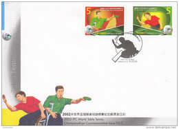TABLE TENNIS-TISCHTENNIS-PING PONG-TENNIS DE TABLE-TENNIS TAVOLO, Taiwan, 2002, FDC / Special Postmark !! - Tennis Tavolo