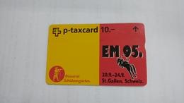 Switzerland-(kf68)-EM 95 Brauerei Schutzengarten-(506l)-tirage-5.000-used Card+1card Prepiad Free - Svizzera
