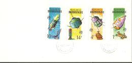 Burundi 1965 FDC (3) Mi# 167-174 A, Block 7 A - Cent. Of The ITU / Space - Africa
