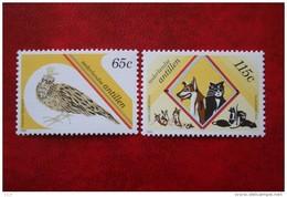 Stichting Dierenbescherming NVPH 914-915 1989 MNH POSTFRIS NEDERLANDSE ANTILLEN  NETHERLANDS ANTILLES - Niederländische Antillen, Curaçao, Aruba