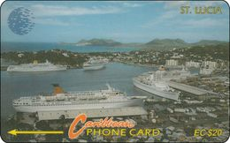 St. Lucia Phonecard  City Haven Schiff - Saint Lucia