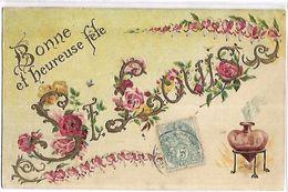 PRENOM - LOUIS - Carte Gaufrée - Prénoms